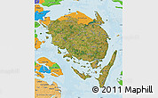 Satellite Map of Fyn, political outside