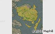 Satellite Map of Fyn, semi-desaturated