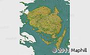 Satellite Map of Fyn, single color outside
