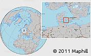 Gray Location Map of Nyborg