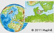 Physical Location Map of Nyborg