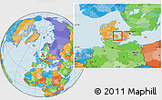 Political Location Map of Nyborg