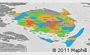 Political Panoramic Map of Fyn, desaturated