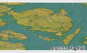Satellite Panoramic Map of Fyn