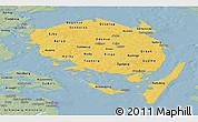 Savanna Style Panoramic Map of Fyn