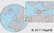 Gray Location Map of Ringe