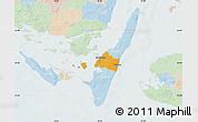 Political Map of Rudkobing, lighten