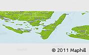 Physical Panoramic Map of Rudkobing