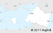 Silver Style Simple Map of Rudkobing