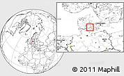 Blank Location Map of Ryslinge