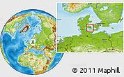Physical Location Map of Ryslinge