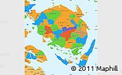Political Simple Map of Fyn
