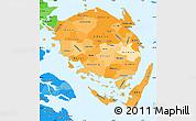 Political Shades Simple Map of Fyn