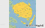 Savanna Style Simple Map of Fyn