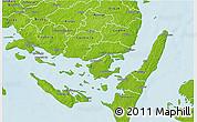 Physical 3D Map of Svendborg