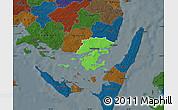 Political Map of Svendborg, darken
