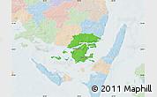 Political Map of Svendborg, lighten