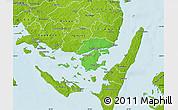 Political Map of Svendborg, physical outside