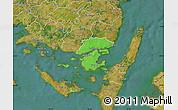 Political Map of Svendborg, satellite outside