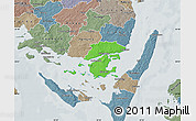 Political Map of Svendborg, semi-desaturated