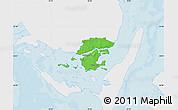 Political Map of Svendborg, single color outside