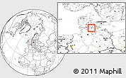 Blank Location Map of Sydlangeland