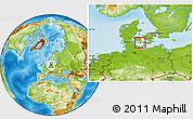 Physical Location Map of Sydlangeland