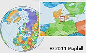 Political Location Map of Sydlangeland, highlighted parent region