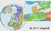Political Location Map of Sydlangeland