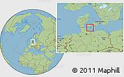 Savanna Style Location Map of Sydlangeland