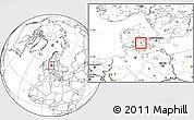 Blank Location Map of Ullerslev