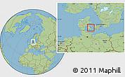 Savanna Style Location Map of Ullerslev