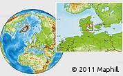 Physical Location Map of Vissenbjerg