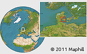 Satellite Location Map of Vissenbjerg