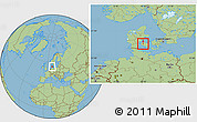 Savanna Style Location Map of Vissenbjerg