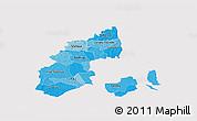 Political Shades 3D Map of Kobenhavn, cropped outside