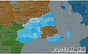 Political Shades 3D Map of Kobenhavn, darken