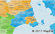 Political Shades 3D Map of Kobenhavn