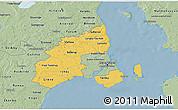 Savanna Style 3D Map of Kobenhavn