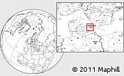 Blank Location Map of Albertslund