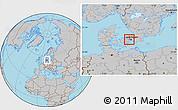 Gray Location Map of Albertslund
