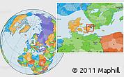 Political Location Map of Albertslund