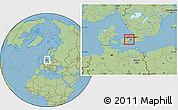 Savanna Style Location Map of Albertslund, highlighted parent region
