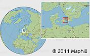 Savanna Style Location Map of Albertslund