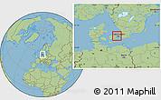 Savanna Style Location Map of Ballerup