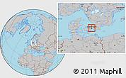 Gray Location Map of Gentofte