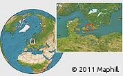 Satellite Location Map of Gentofte