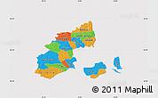 Political Map of Kobenhavn, cropped outside