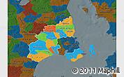 Political Map of Kobenhavn, darken