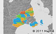 Political Map of Kobenhavn, desaturated